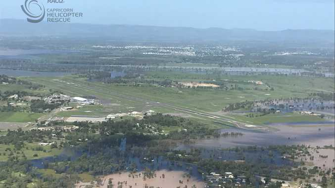 Rockhampton flood.Photo RACQ CAPRICORN HELICOPTER RESCUE SERVICE.