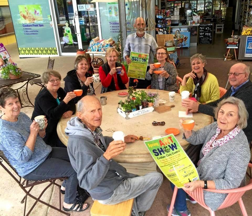 ARTY GROUP: The Coolum Art club was founded in 1968 and is one of the oldest active art clubs on the Sunshine Coast.