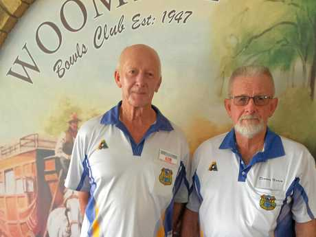 HIGH FLYERS: (left) Peter Harris and Dennis Nevin from Woombye Bowls Club, will be competing in the Tiger Bowls World Invitation 2017 event in Hong Kong.