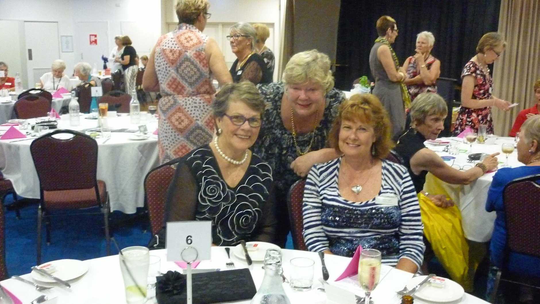 Caloundra Evening VIEW members Wendy Lonie, Sue Parfitt and Jalna Paget