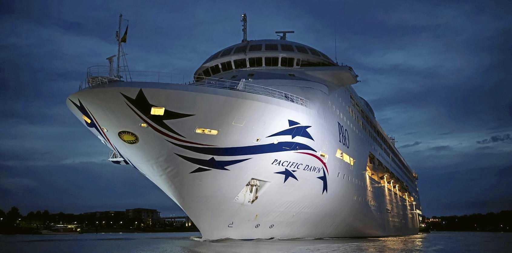 P&O Cruises' New-look Pacific Dawn Sails into Brisbane.