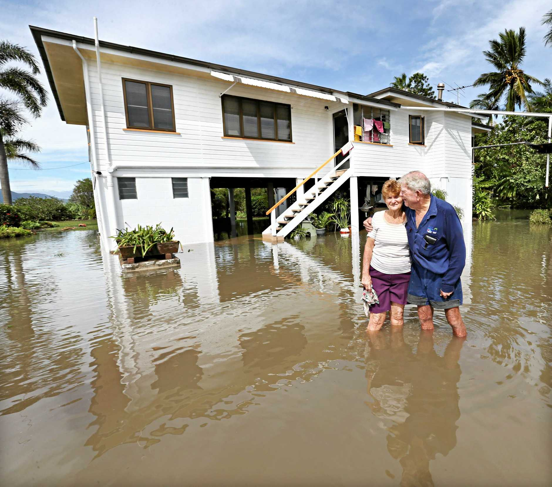 Cyclone coverage Alan and Beverley Creber at their home thtas Flooding in North Eton near Mackay. Pic Annette Dew