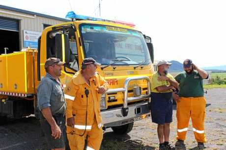 Eton Rural Fire Fighters Andrew Vassallo, John Muscat, Paul Vassallo and Adrian Vassallo.