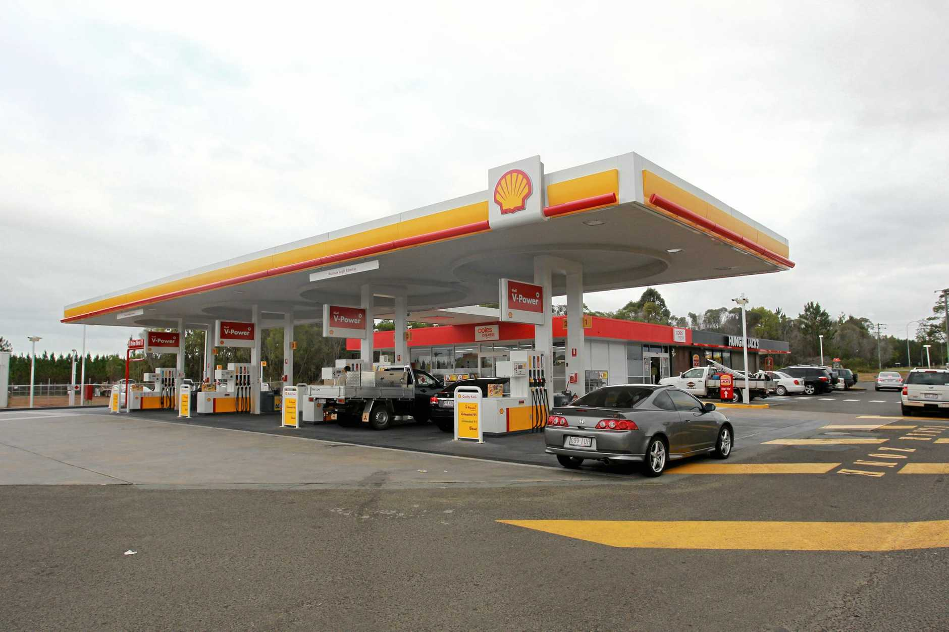 SOON TO COME: A Shell service station on the Bruce Highway with a fast food retailer attached.