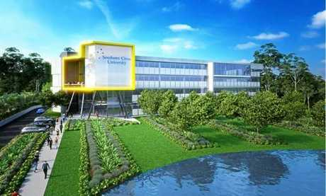 An artist impression of SCU's Coffs Campus for the future.
