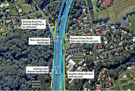 How the proposed Coffs Harbour Pacific Highway Bypass would look north of the city.