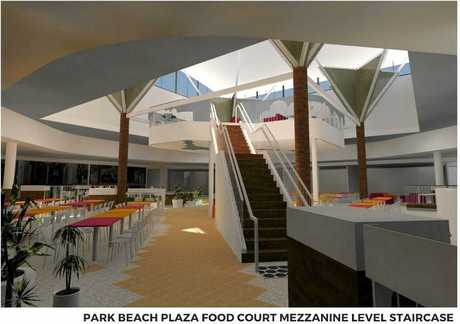 Plans of Park Beach Plaza's food court upgrade.