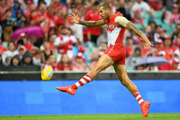 Lance Franklin will play his 250th AFL game Friday.
