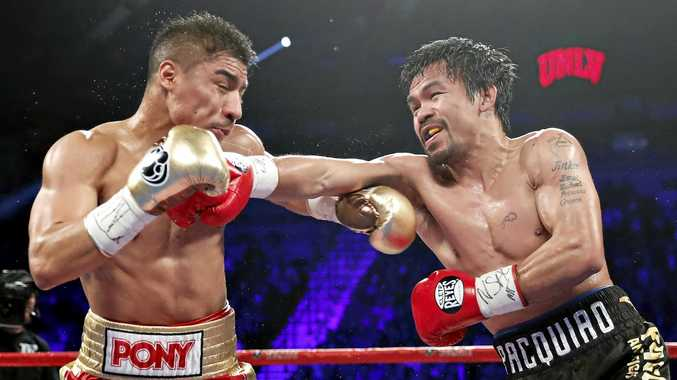 Manny Pacquiao, right, of the Philippines, will fight Jeff Horn in Brisbane on July 2.