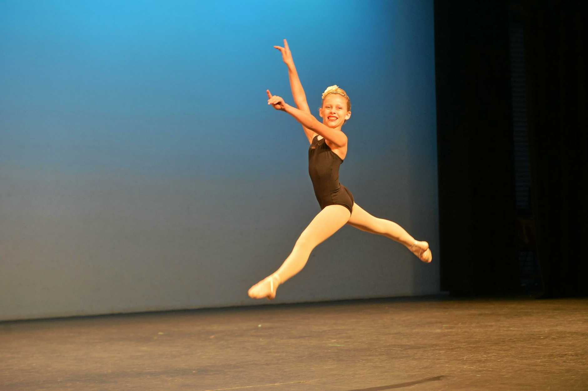 YOUNG TALENT: Fiona Logan performs in the Bundaberg festival of Dance at the Moncrief Theatre.