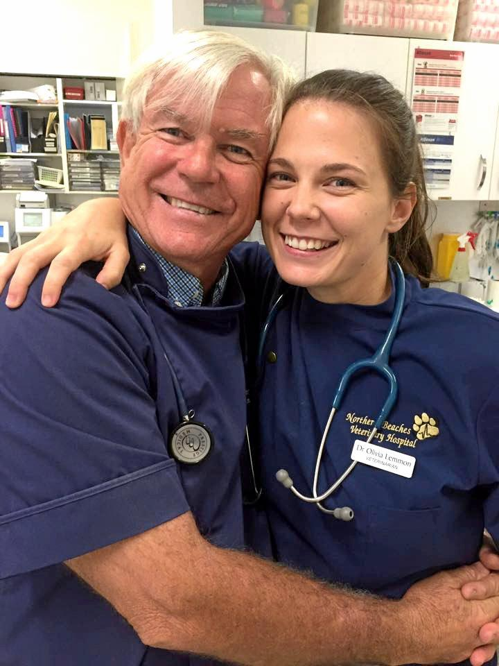 SPECIAL PAIR: David and Liv Lemmon from Northern Beaches Vet Hospital have nominated to be the next 'Bondi Vet' TV stars.