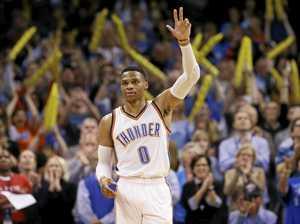 Westbrook one rebound short of making NBA history