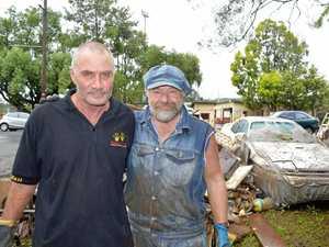 Flood clean up volunteers brave sewage mud