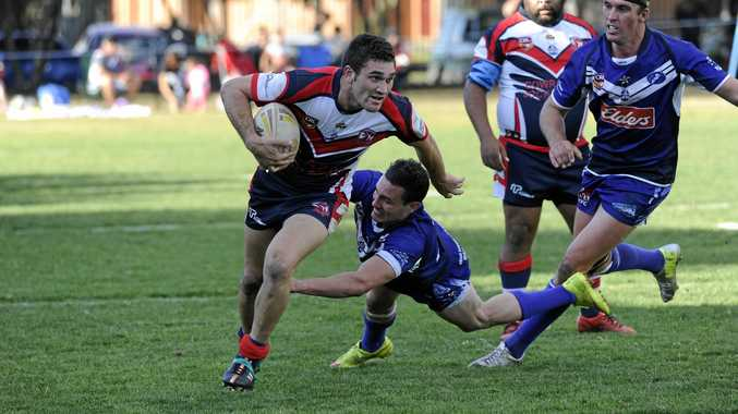 IN THE WRONG: Nambucca Heads Roosters' player Jay Melrose in action.