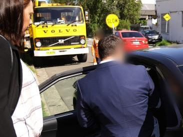 McCormack, 42, was taken to Redfern Police station for questioning and was later charged. Picture: NSW Police