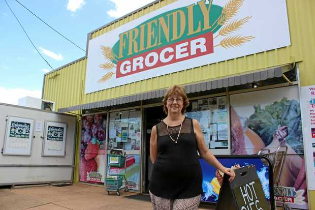 SHOW, TELL: Linda Murton, co-owner of Rubyvale Grocer where Sienna and Trad Holmes showed the gem.