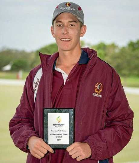 Mitchell Pascoe from Sandgate-Redcliffe District Cricket Club has been named in the Australia Under 16s squad. Photo: contributed