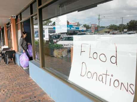 Flood donation centre at Baileys Centre Coffs Harbour. 05 April 2017