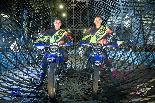 STUNT RIDERS: Justin Ryan (left) and Sam Fennel are the feature act for the Australian Street Entertainment Championships.