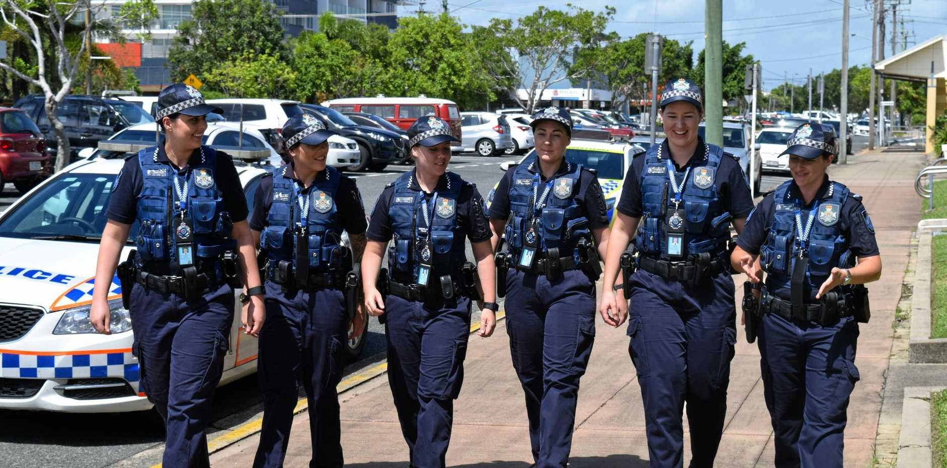 GIRL POWER: The six new female recruits being welcomed into the Mackay region.