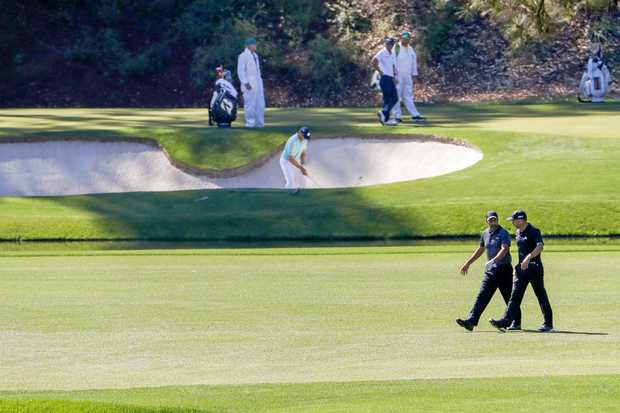 Weather, DJ's fall should make for wild 1st round at Masters