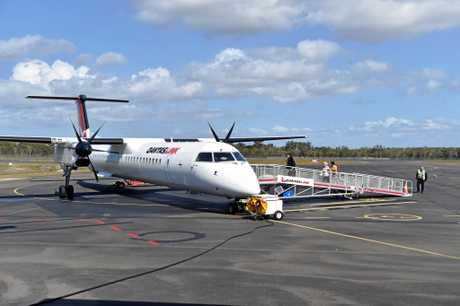 10 years of jets at Hervey Bay Airport - Qantaslink flight to Brisbane. Photo: Alistair Brightman / Fraser Coast Chronicle