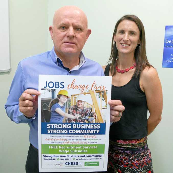CHESS CEO Paul Kelly and Headspace Coffs Harbour manager Shelley Rowe have teamed with the NSW Business Chamber to tackle rising youth unemployment on the Coffs Coast.