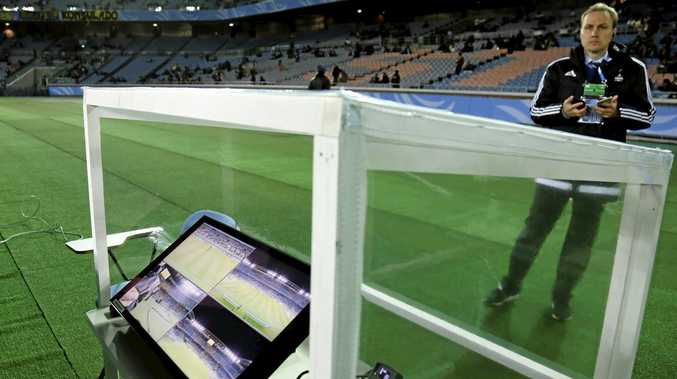 A monitor similar to this will be used by the video assistant referee when the VAR system is trialled by the A-League this weekend.