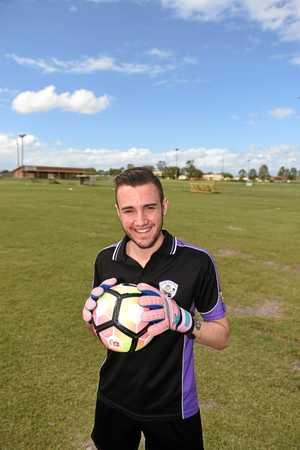 United Warriors goalkeeper Sam Whatman has returned to Hervey Bay. Whatman, 19, spent two years at English football clubs.