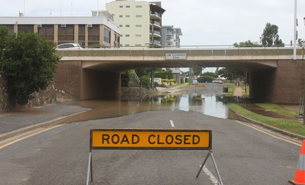 Victoria Parade is closed due to flooding.