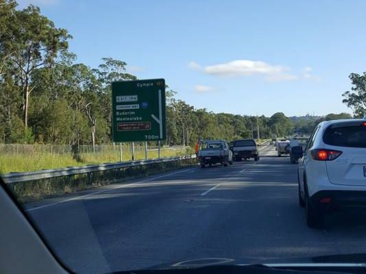 Sharon Wells took this photo at the scene of the crash on the Bruce Hwy.