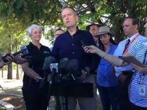 Opposition leader Bill Shorten supports Rockhampton levee