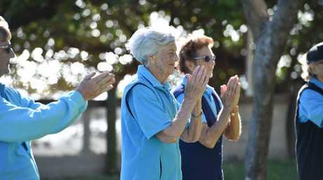 Tai Chi for Health - instructor Moya Mateer celebrates her 90th birthday.