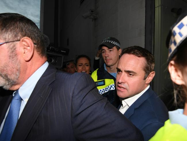 Ben McCormack released from Redfern police station last night.