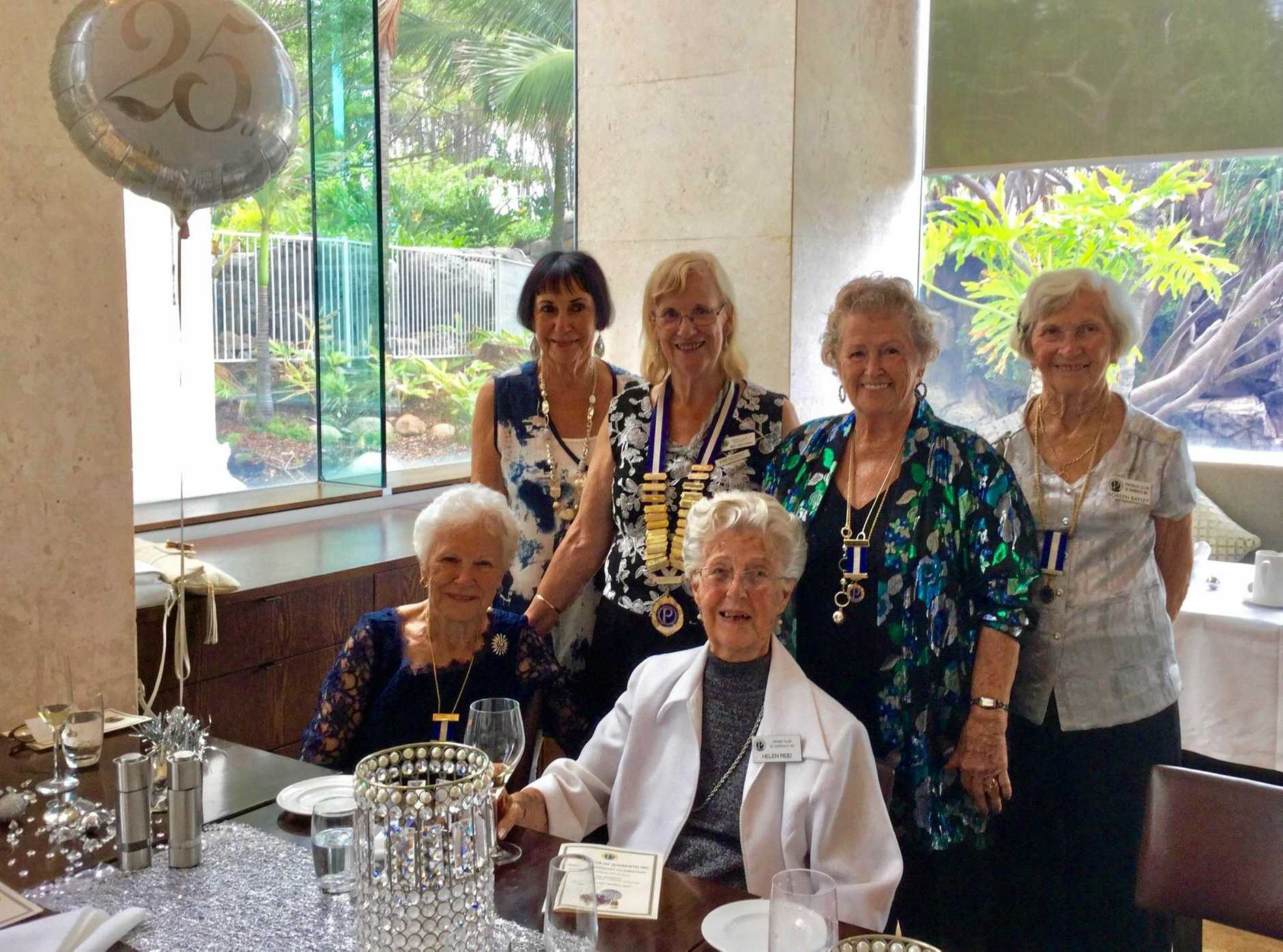 The Sorrento Probus Club celebrated their Silver Anniversary at Surfers Marriott Resort recently. A mixed club enjoying many community activities.