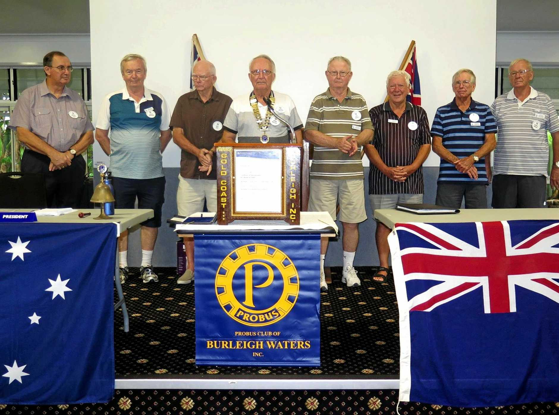 The Burleigh Waters Probus Management Committee for 2017/18.