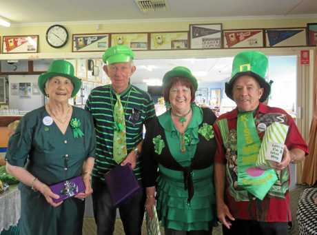Winners of The Best Dressed in Green for Garden City National Seniors St Patricks Day meeting were (Left to Right), Merle Bradford, Ted Lewis, Honor Stevens and Des Hussey.