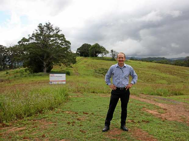 Baydn Dodds of Colliers International on site at the 18.36ha property at 50 Abbotts Rd, Palmwoods.