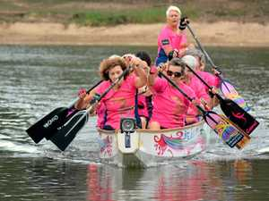 Breast cancer survivors benefiting from dragon boating