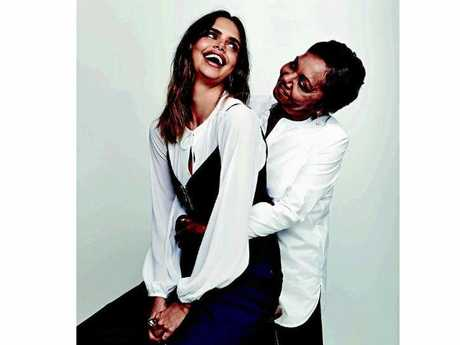 Formerly of the Northern Rivers, model Sam Harris with her mum Myrna Sussye, pose for the Sunday Style magazine to  raise awareness for early detection test for ovarian cancer.