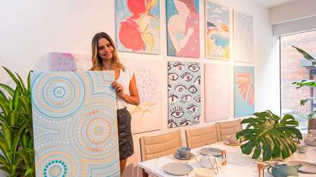 Formerly of Northern Rivers, Vogue covergirl, Myer autumn-winter ambassador and international catwalk model Sam Harris designed an Aboriginal art-inspired box for Twinings tea, for the Make a Wish foundation.