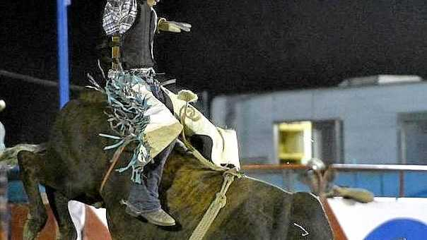 LOOK NO HANDS: Get in early for a full day of action at the 22nd Toogoolawah Charity Rodeo this Saturday.