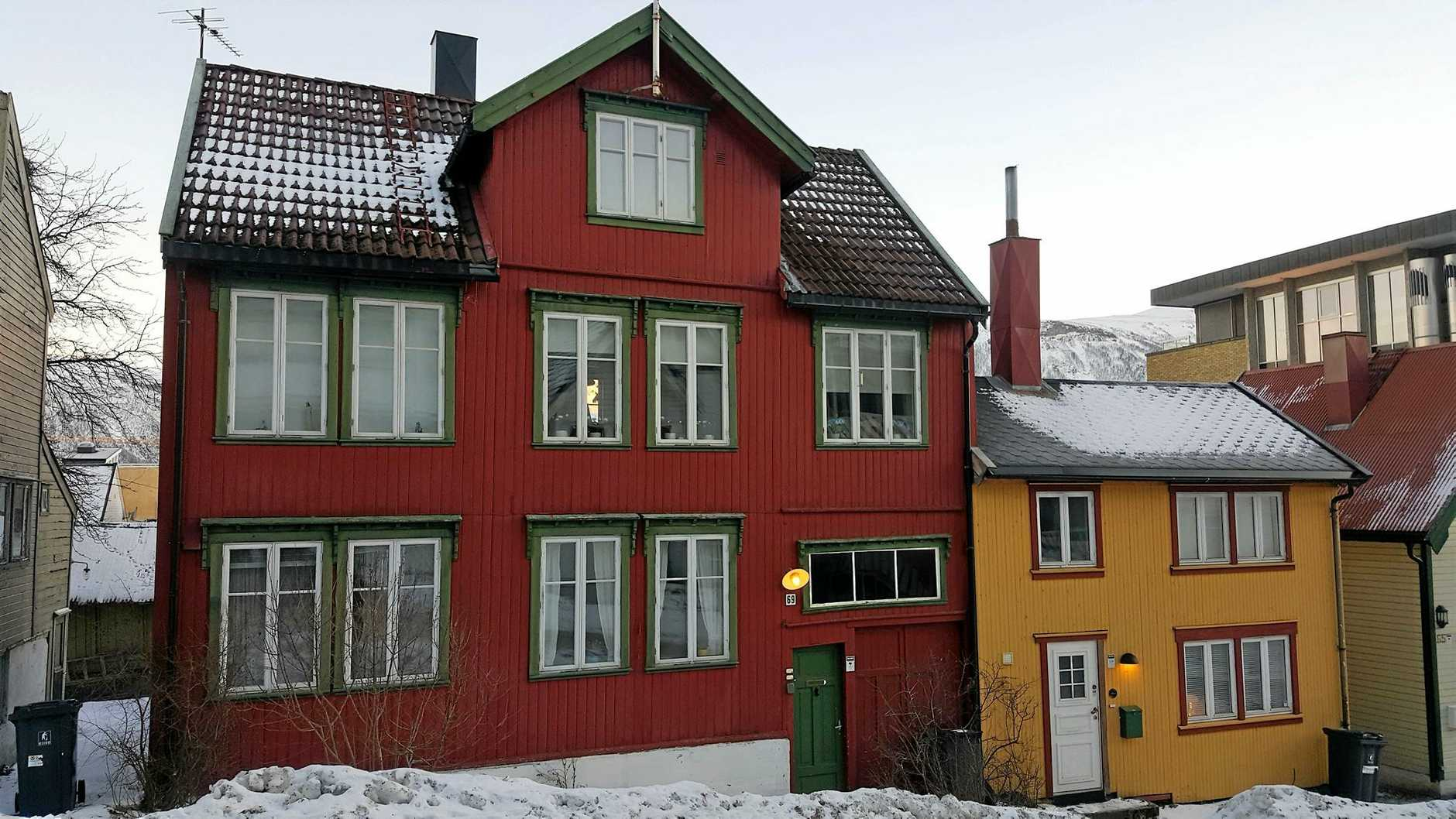 The Red Old House in Tromso.