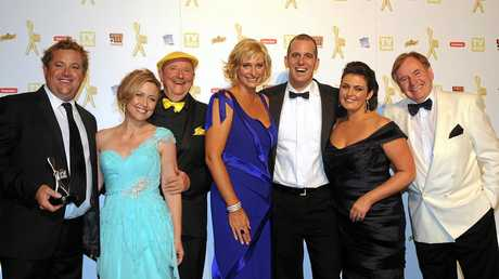 The team from Better Homes and Gardens hold their Silver Logie for Most Popular Lifestyle Program at the 52nd Logie Awards in Melbourne, in 2010.