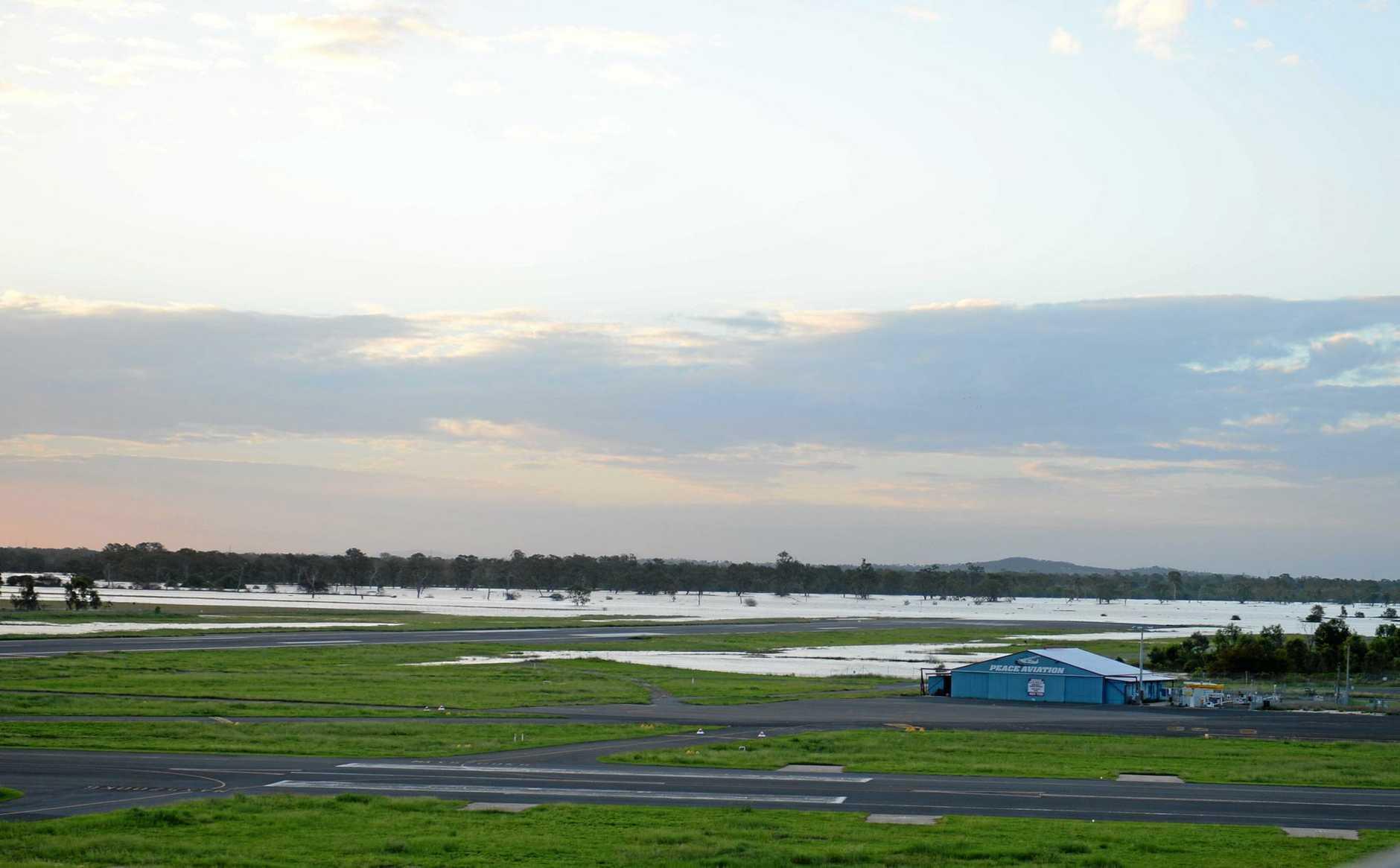 Northern end of runway at Rockhampton airport.