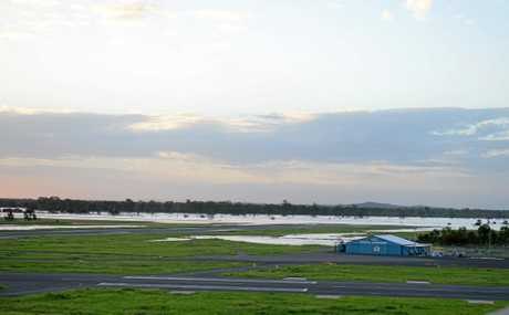 Northern end of runway at Rockhampton airport.