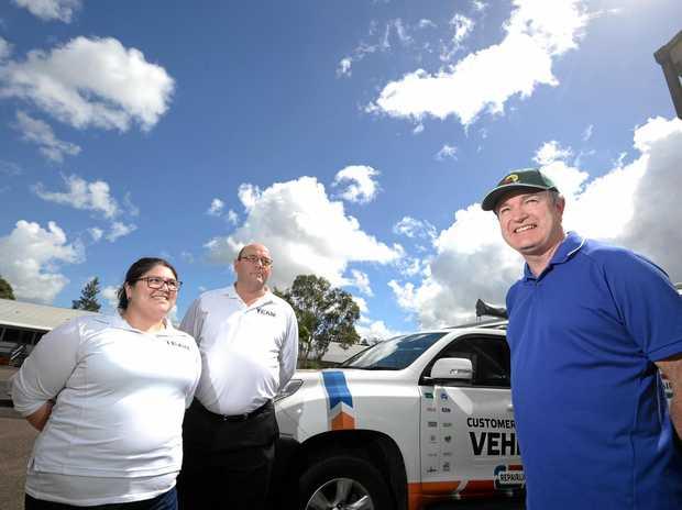 CUSTOMER FOCUSED: Suncorps CEO Customer Platforms Gary Dransfield with Emma Gambin and Jason Eversham