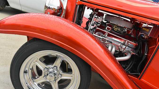 Hot rod show at Earles Paint Place in Torquay - 1932 Ford Coupe. Photo: Alistair Brightman / Fraser Coast Chronicle