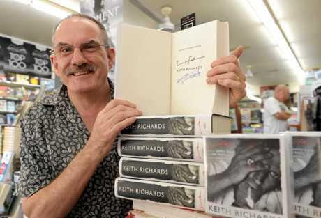 Co-owner Graeme Bowden at The Bookshop Caloundra.