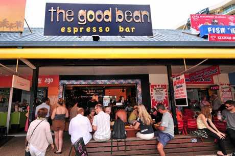 The Good Bean espresso bar at Mooloolaba Beach.